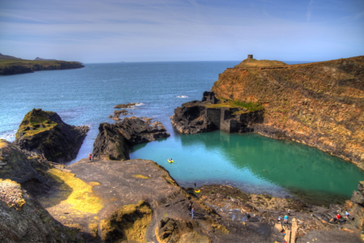 Blue Lagoon en Pembrokeshire Coast National Park