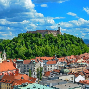 Ljubljana, castillo, Eslovenia, Casco Antiguo, Europa Central